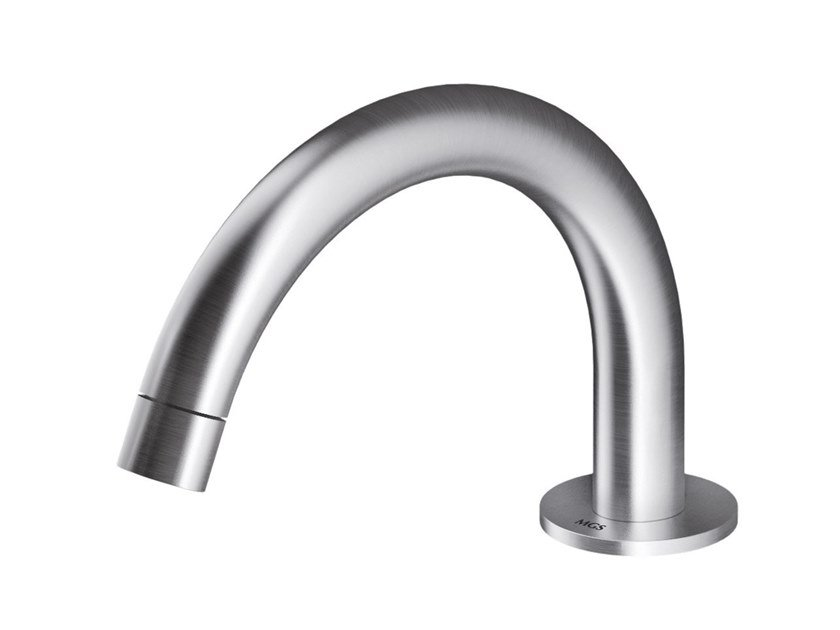 Deck-mounted stainless steel spout AC979 | Spout by MGS