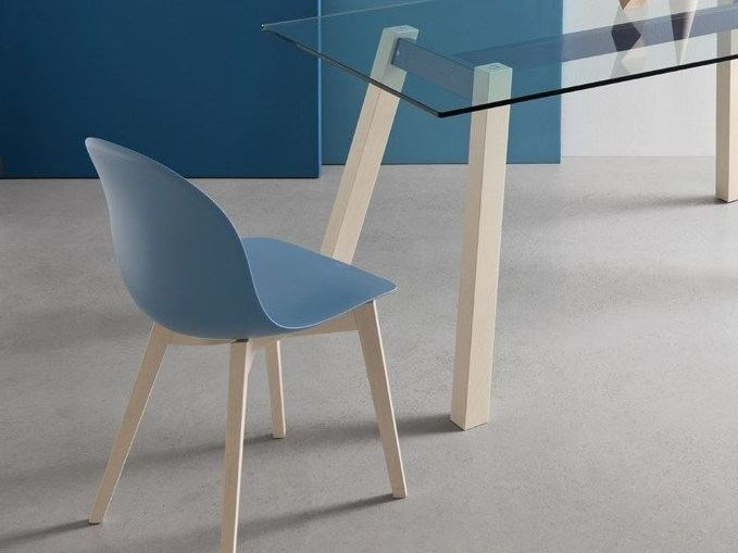 Technopolymer chair ACADEMY W | Chair by Calligaris