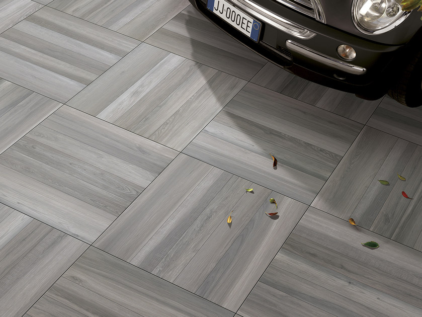 Porcelain stoneware outdoor floor tiles with wood effect ACANTO | Outdoor floor tiles by Serenissima