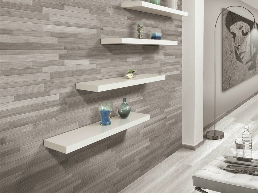 Porcelain stoneware wall tiles with wood effect ACANTO | Wall tiles by Serenissima
