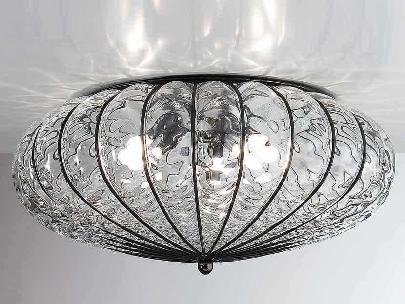 Plafoniera Moderna Vetro Murano : Plafoniere vetro di murano