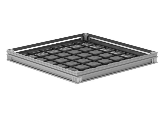 Manhole cover and grille for plumbing and drainage system ACCESS COVER UNIFACE AL - M125 by ACO PASSAVANT