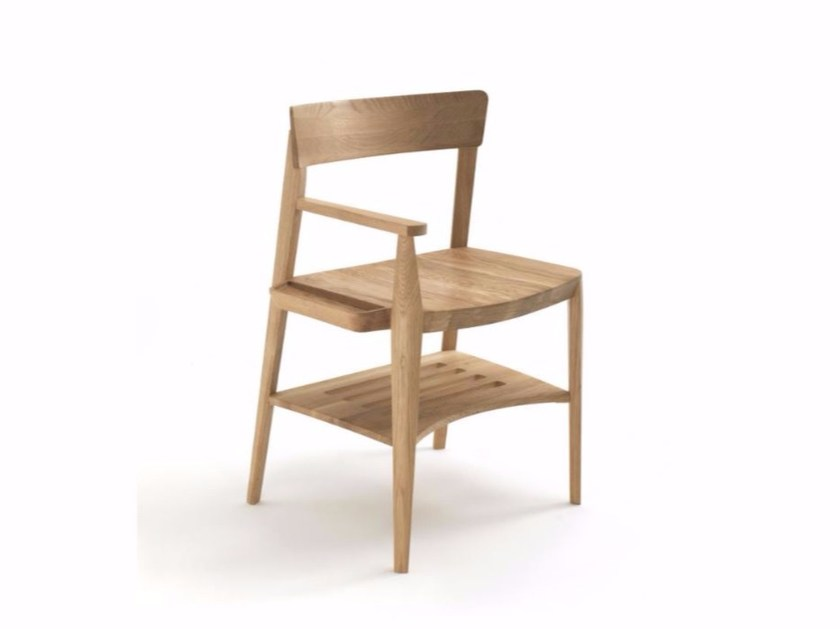 Wooden chair with storage space ACCOMOD'O by Riva 1920