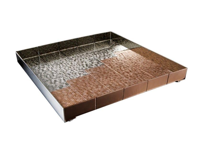 Square copper and bronze tray ACCORDI by ZANETTO