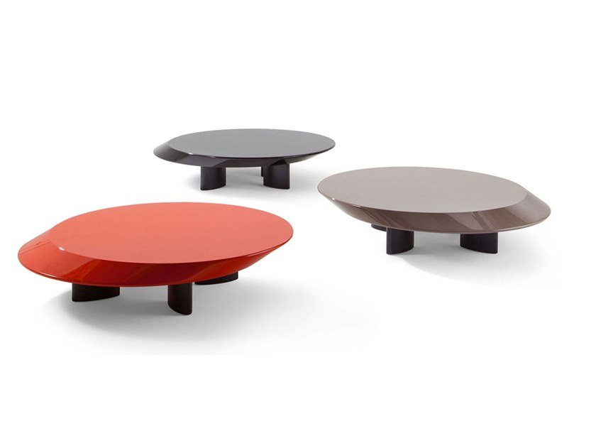 Low round MDF coffee table ACCORDO by Cassina