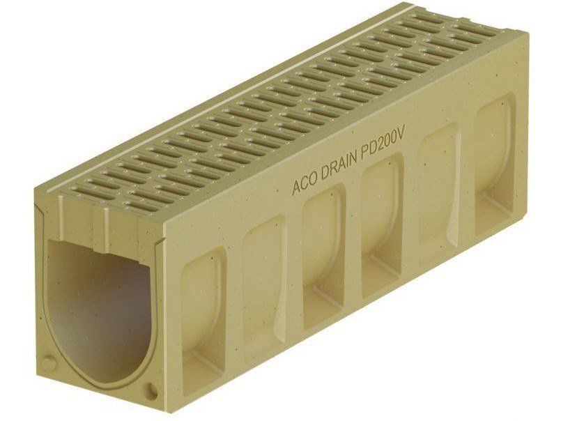 Polymere concrete Drainage channel and part ACO DRAIN® MONOBLOCK PD200 V by ACO PASSAVANT