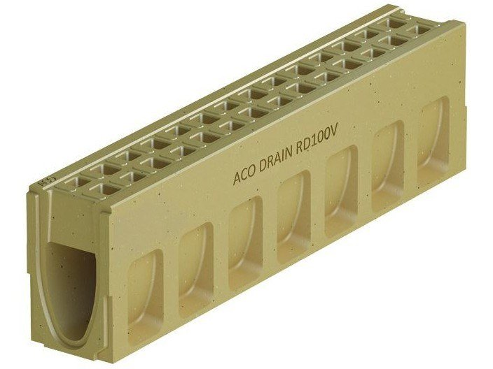 Polymere concrete Drainage channel and part ACO DRAIN® MONOBLOCK RD100 V by ACO PASSAVANT