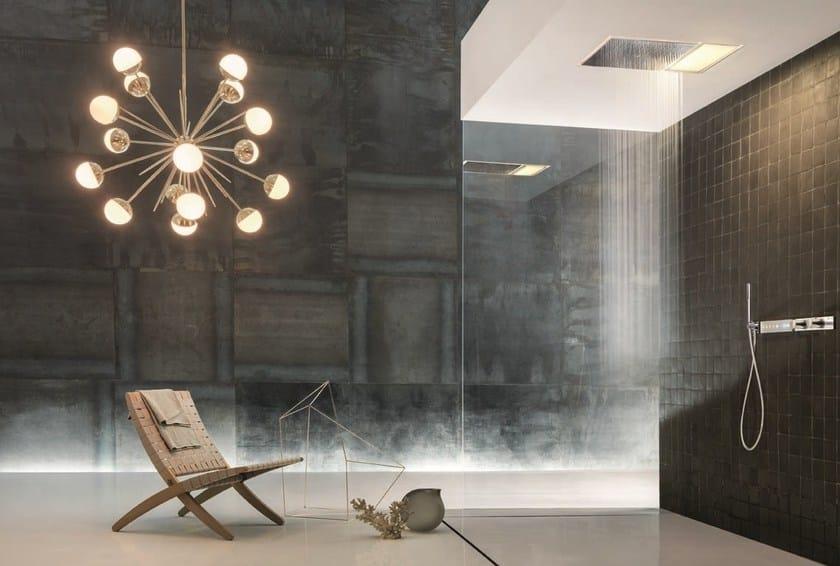Soffione doccia a soffitto da incasso con illuminazione acquadolce l041 by fantini rubinetti - Soffione doccia a soffitto ...