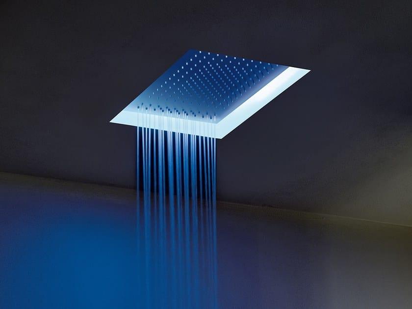 Built-in rectangular 2-spray stainless steel overhead shower ACQUAFIT 93 K021 | Built-in overhead shower by Fantini Rubinetti