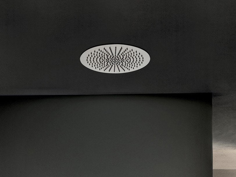 Built-in round 2-spray stainless steel overhead shower ACQUAFIT 93 K072 | Built-in overhead shower by Fantini Rubinetti