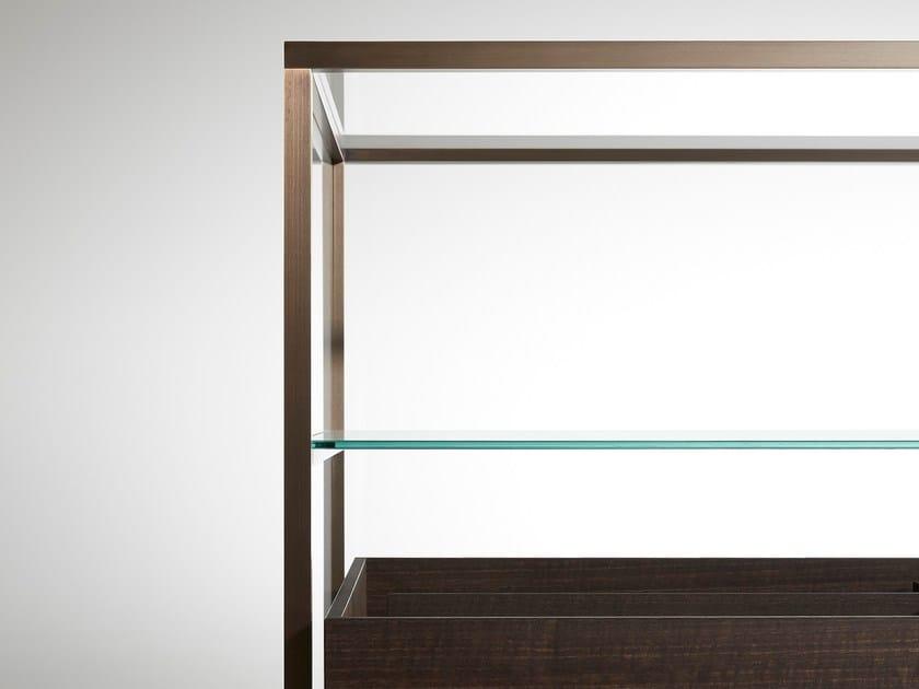 Vetrina in legno e vetro ACQUARIO Porro