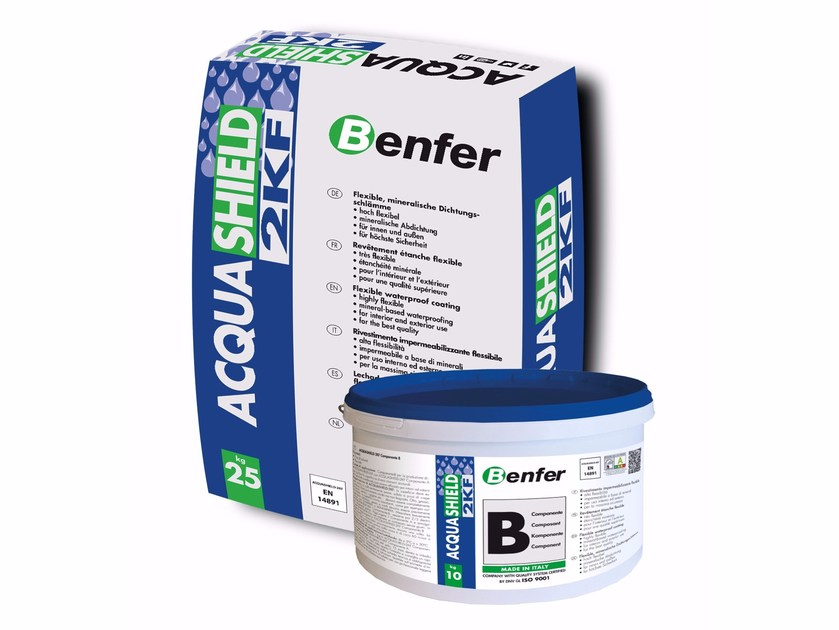Two component waterproofing cementitious coatings ACQUASHIELD-2KF by BENFER SCHOMBURG