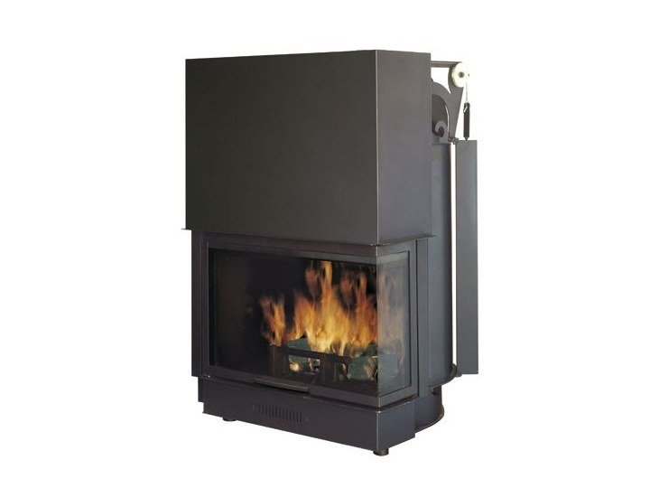 Wood-burning Boiler fireplace ACQUATONDO 29 WITH GLASS SIDE by EDILKAMIN