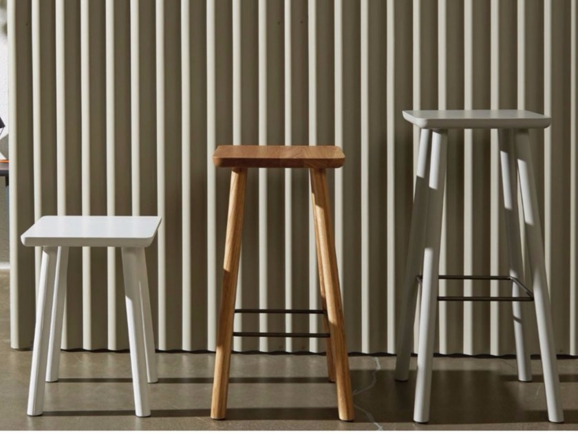 High wooden stool ACROCORO | High stool by Atipico