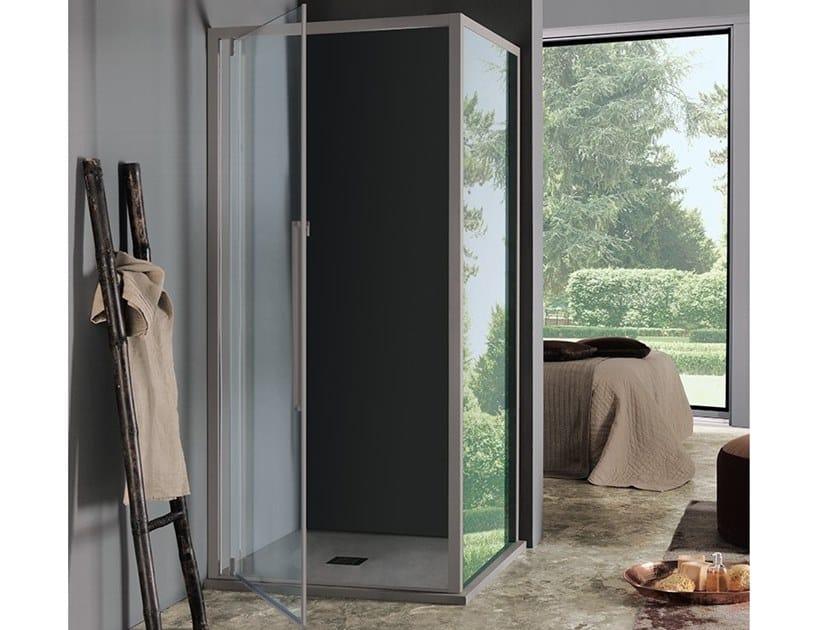 Box doccia rettangolare con porta a battente ACRUX | Box doccia con porta a battente by Samo