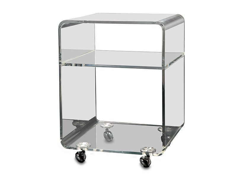 Storage acrylic bathroom cabinet with casters ACRYLIC ROLLER SET By ...