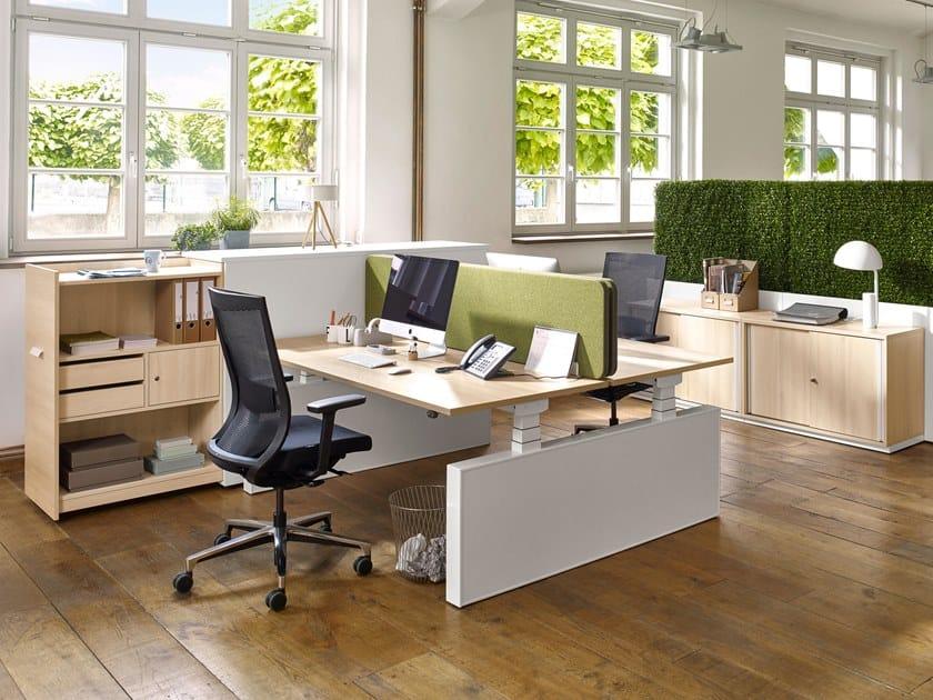 Height-adjustable workstation desk ACTIVE   Height-adjustable office desk by Febrü