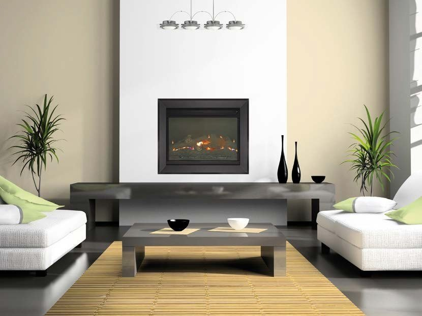 Gas fireplace with catalytic technology ACUMEN by BRITISH FIRES
