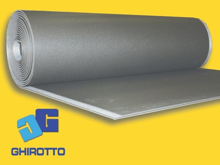 Sound insulation and sound absorbing felt with lead-laminate ACUROLL ECOPIOMBO 1mm by GHIROTTO