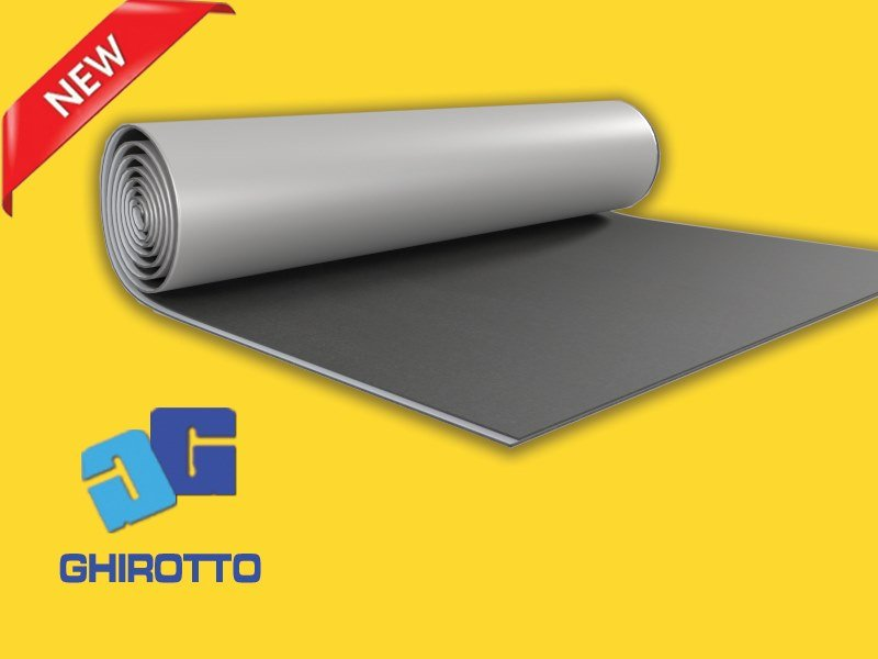 Sound insulation and sound absorbing felt with lead-laminate ACUROLL ECOPIOMBO GIPS 1mm AD by GHIROTTO
