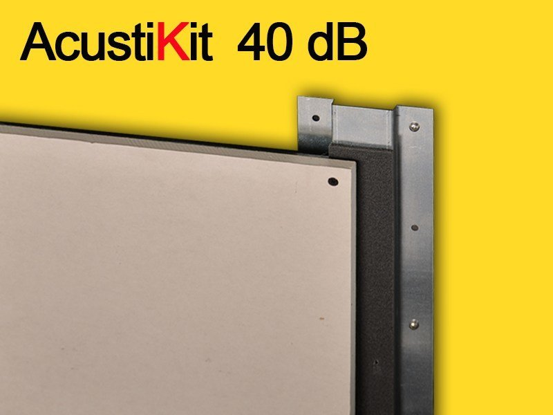 Plasterboard Sound insulation and sound absorbing panel for false ceiling ACUSTIKIT 40 dB by GHIROTTO