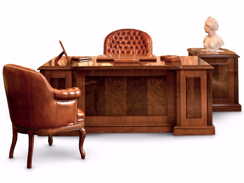 Solid Wood Executive Desk With Drawers Ad Office By Mascheroni