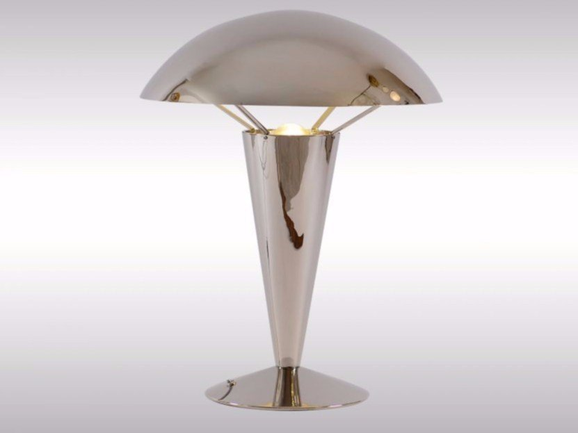 Indirect light brass table lamp AD2   Table lamp by Woka Lamps Vienna
