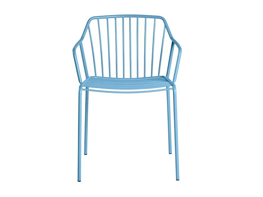 Metal chair with armrests ADA | Chair by CaStil