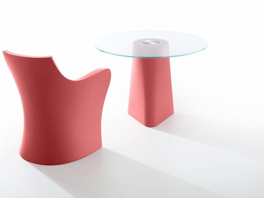Tavolo rotondo in cristallo ADAM | Tavolo in cristallo by B-LINE