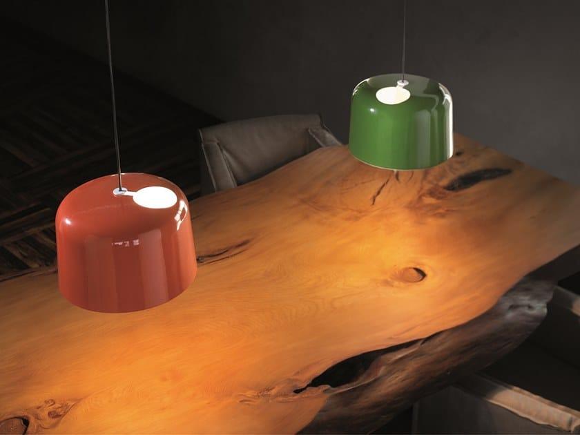 Handmade ceramic pendant lamp ADD by Quadrifoglio