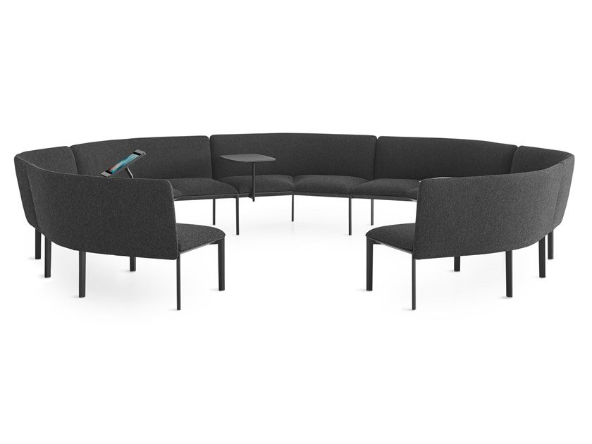 Sectional curved fabric sofa ADD ROUND by Lapalma