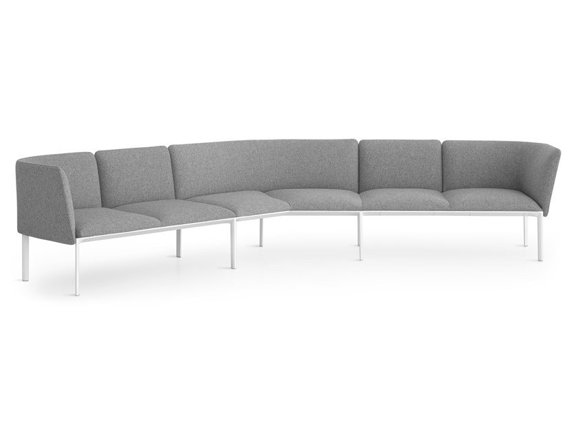 Corner Sectional Fabric Sofa ADD V SHAPE By Lapalma