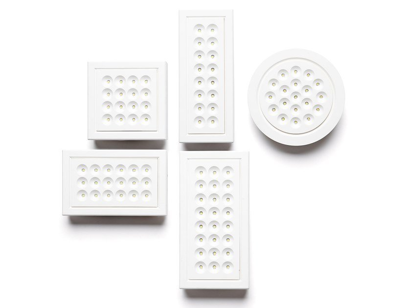 Recessed plaster ceiling lamp ADE by Sforzin