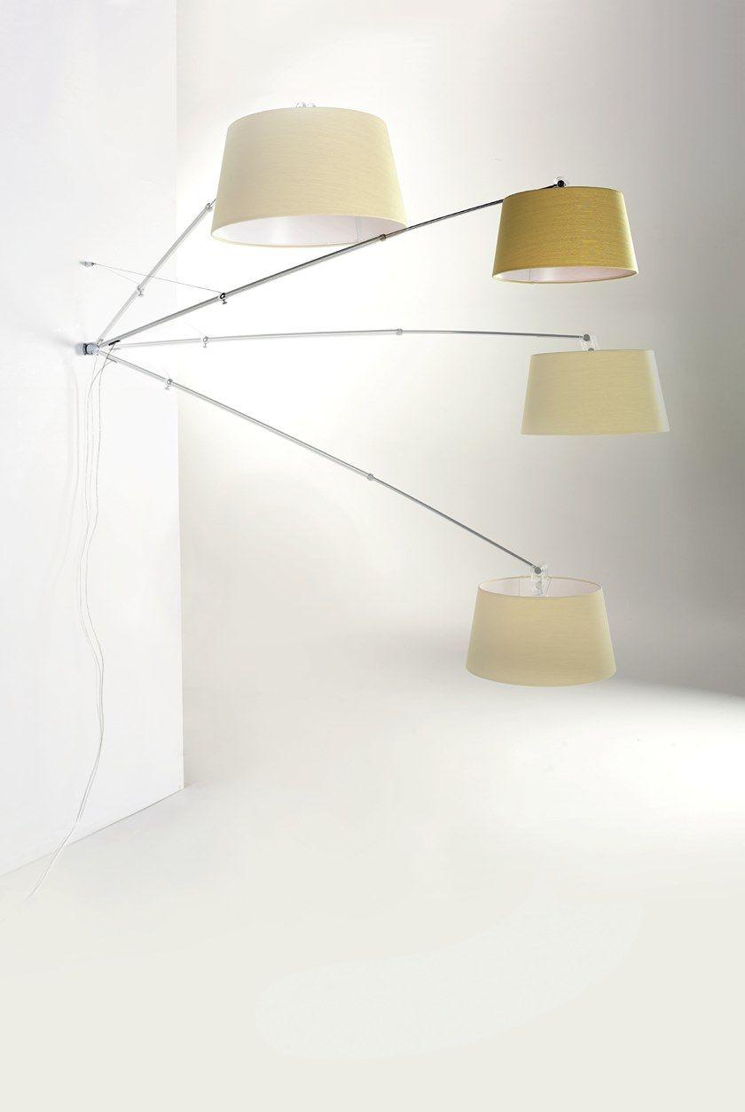 Lampade Da Parete Con Braccio lampada da parete con braccio flessibile adjustable - cattaneo