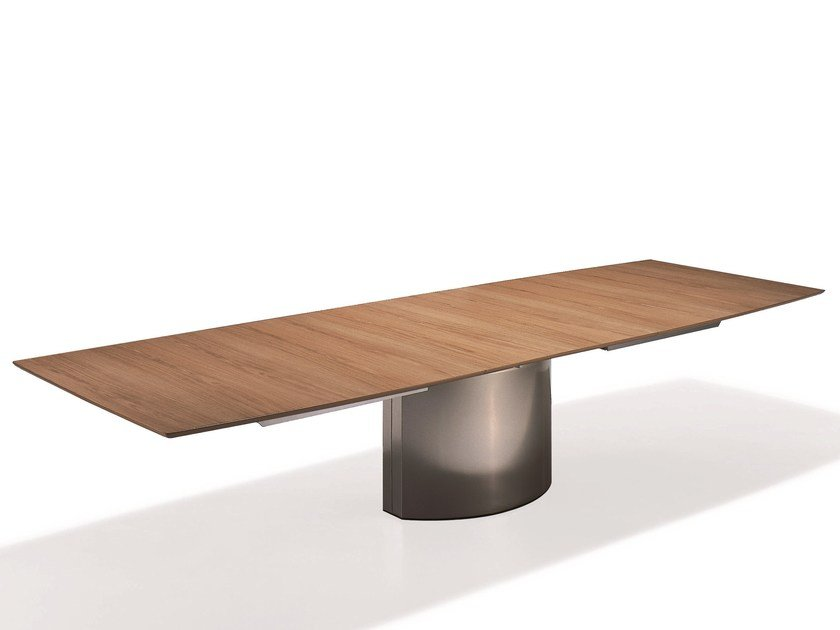 Adler ii magnum wooden table by draenert design peter for Esstisch ausziehbar 4 meter