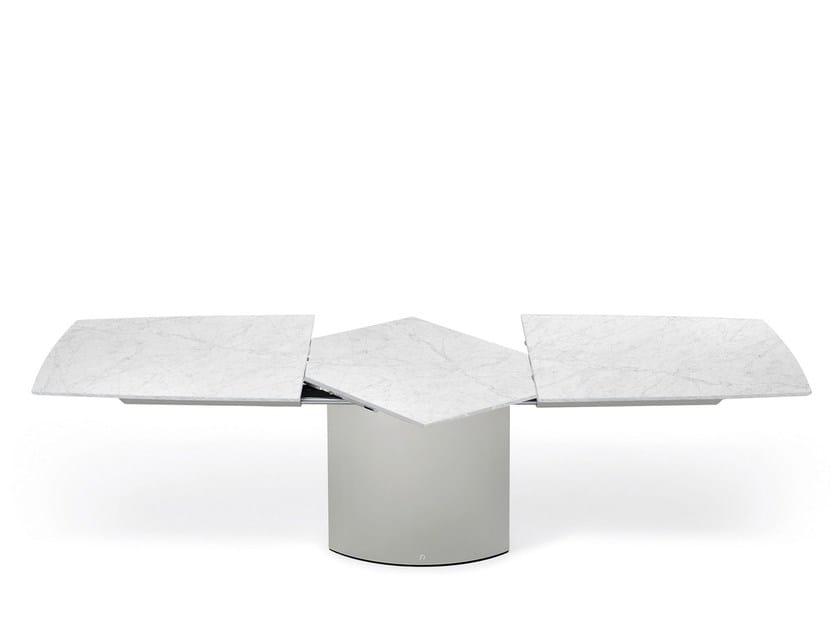 Extending stone dining table ADLER II | Stone table by Draenert
