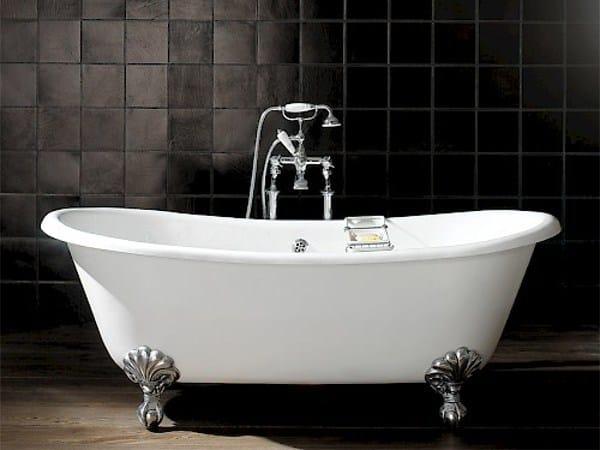 Freestanding oval cast iron bathtub on legs ADMIRAL 172 by Devon&Devon