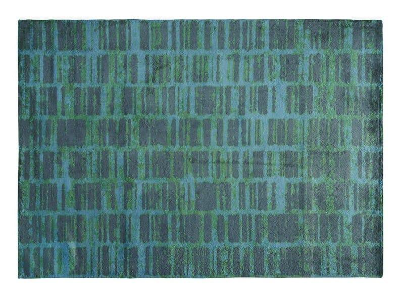 Patterned rectangular silk rug ADN by Toulemonde Bochart