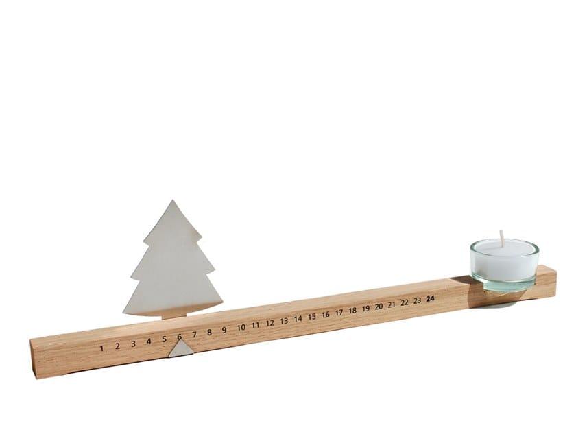 Oak candle holder ADVENTSEISTE by designimdorf
