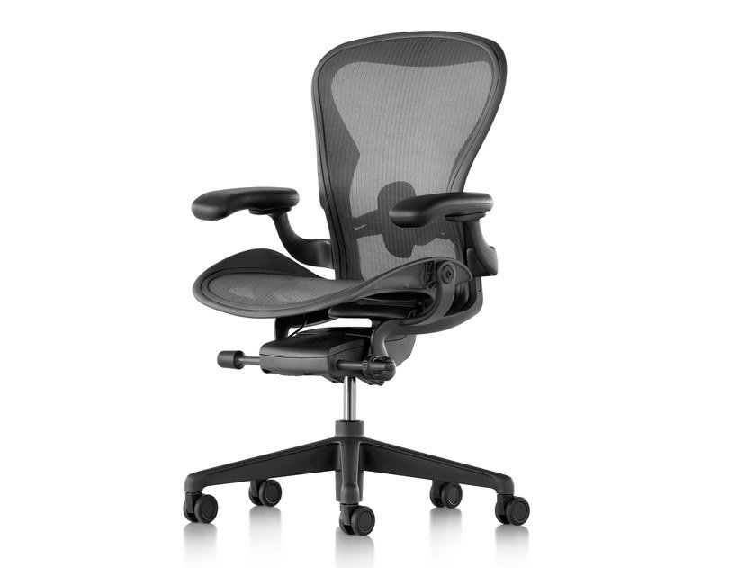 Swivel office chair with 5-Spoke base with castors AERON | Office chair by Herman Miller