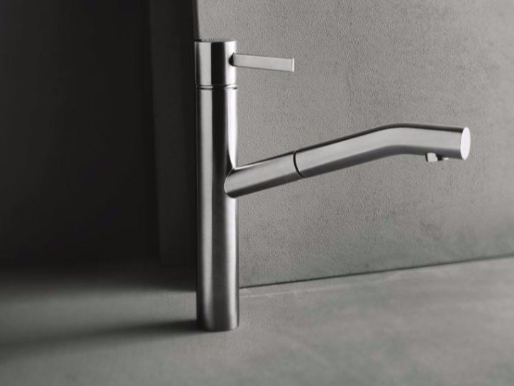 Countertop kitchen mixer tap with pull out spray AF/21 - A753F by ABOUTWATER