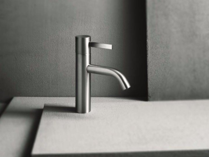 Countertop single handle washbasin mixer with brushed finishing AF/21 | Washbasin mixer with brushed finishing by ABOUTWATER