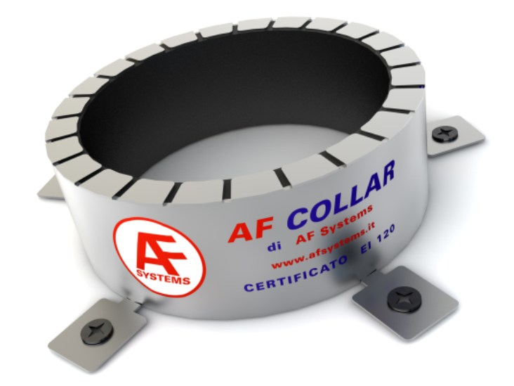 Fireproofing collars for plastic pipes AF COLLAR by AF SYSTEMS