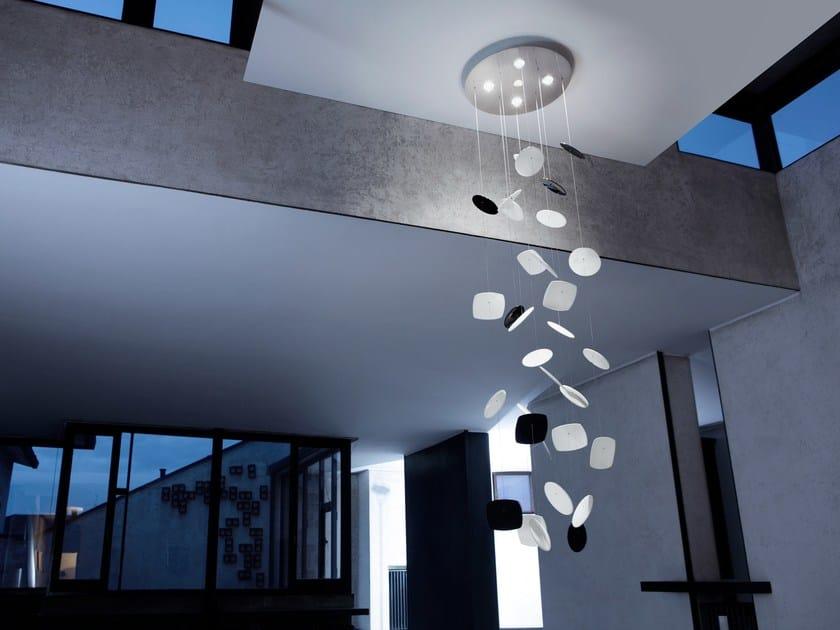 Lampada a sospensione a luce diretta in acciaio inox AFEF | Lampada a sospensione by PANZERI