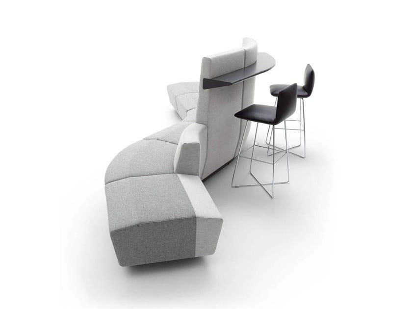 Sectional Modular High Back Fabric Sofa AFFAIR | High Back Sofa By COR