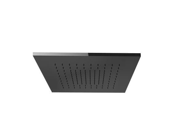 Tête de douche de plafond carrée avec chromothérapie AFILO | Tête de douche carrée by Gessi