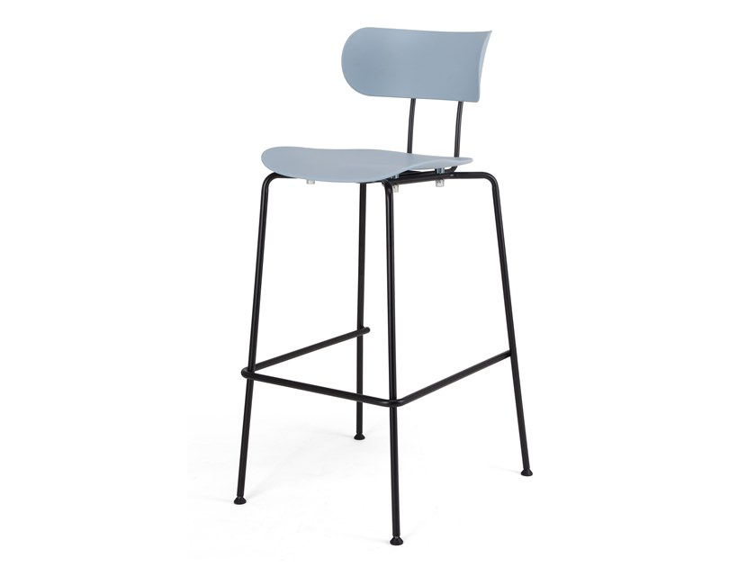 High plastic stool with back AFM   Plastic stool by Senchuan