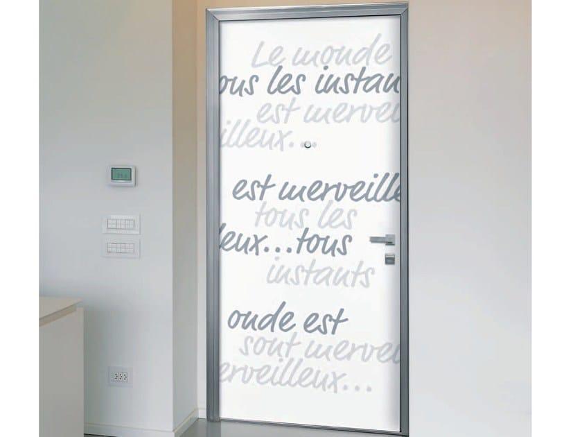 Pannello di rivestimento per porte blindate AFORISMI by Alias Security Doors