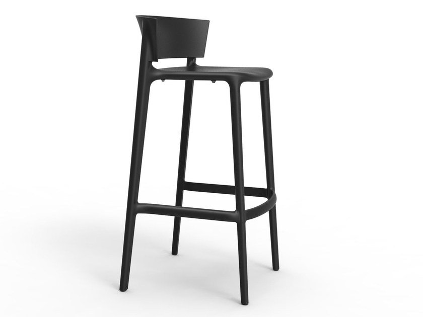 Polypropylene barstool with footrest AFRICA | Barstool by VONDOM