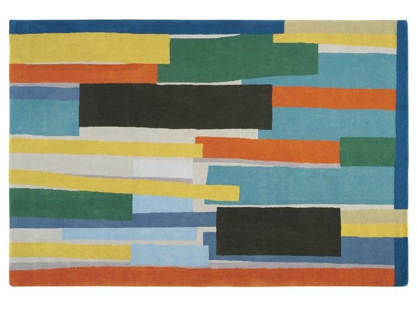 Handmade rectangular wool rug AFRICA by Toulemonde Bochart